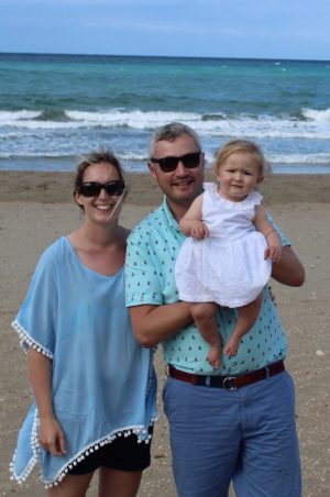 family photo on the beach - Cotswold Baby Co