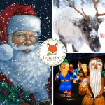 Images of Santa, reindeer and lights at longleat - Cotswold Baby Co