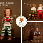 toddlers wearing blade and rose Christmas leggings and Cotswold Baby Co Christmas Pyjamas