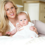 Photographer Joanna Osborne and her baby - Cotswold Baby Co