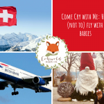 picture of an aeroplane, Swiss flag and baby - Cotswold Baby Co