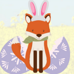 BertieFox dressed as an Easter rabbit - Cotswold Baby Co