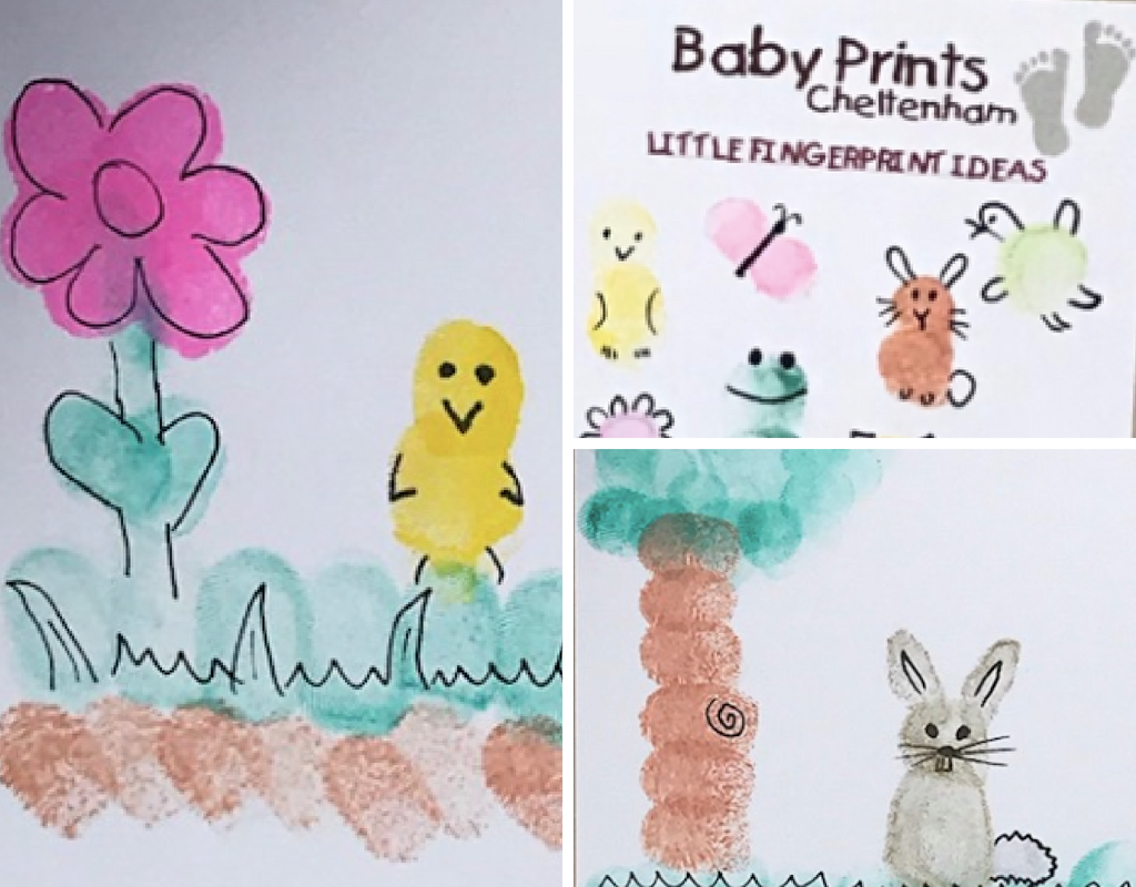 finger print crafts - cotswold baby co