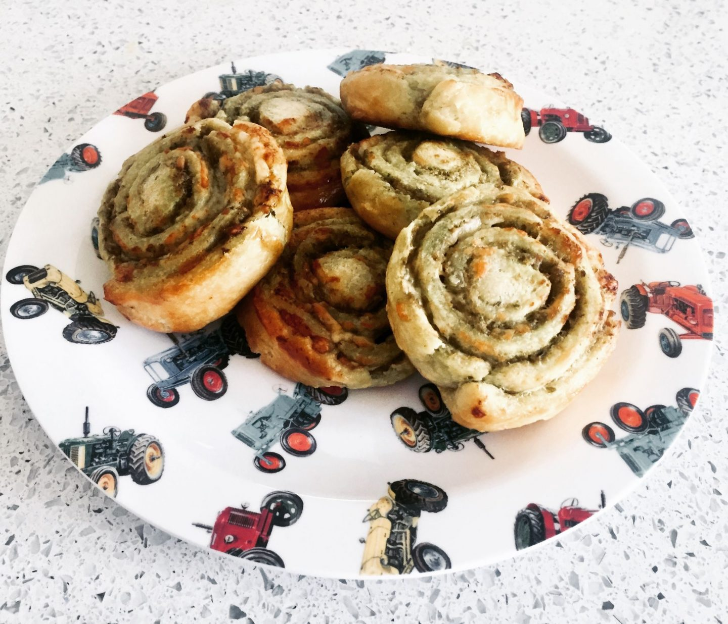 Pesto and Cheese Pinwheels