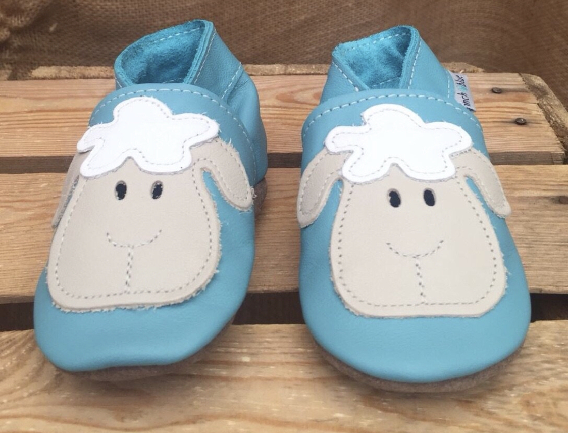 Sheep Leather Shoes by Inch Blue - Cotswold Baby Co