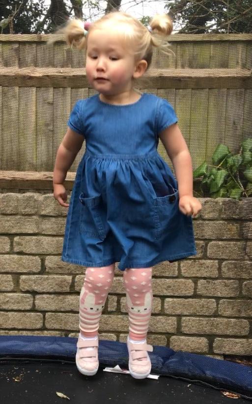 Bunny Rabbit Leggings with Denim Dress