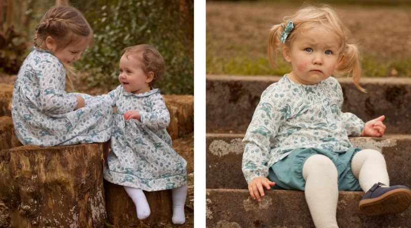 Blue Hares Dress and Outfit by Pigeon Organics