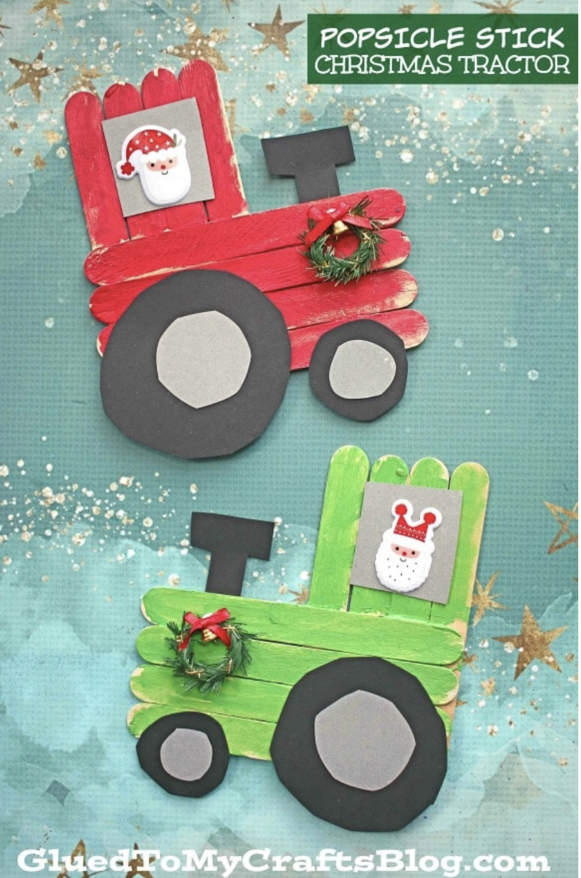 Christmas Tractor Craft for Kids | Cotswold Baby Co