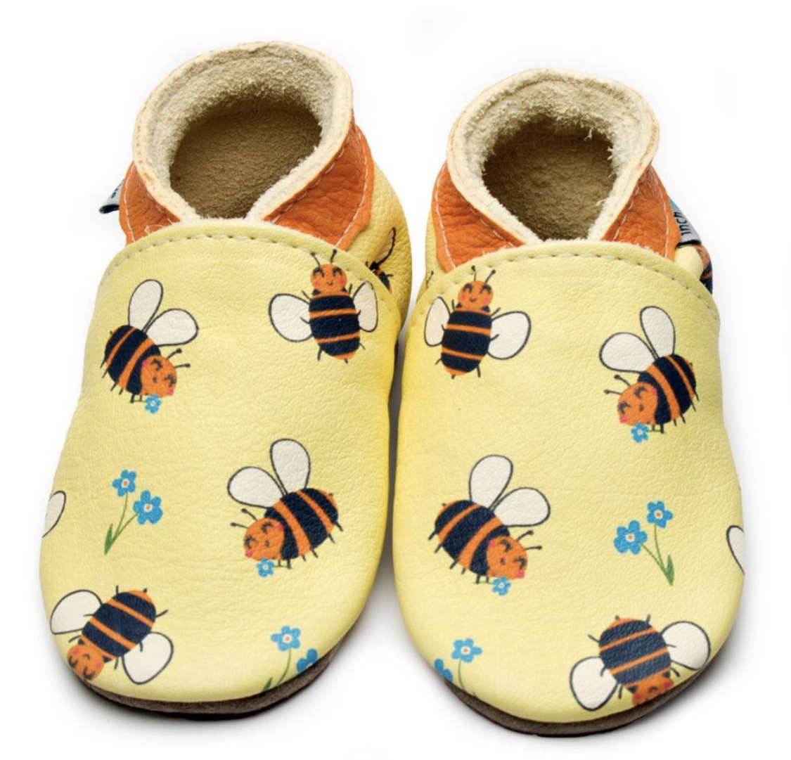 Bee Happy Leather shoes by Inch Blue, Cotswold Baby co