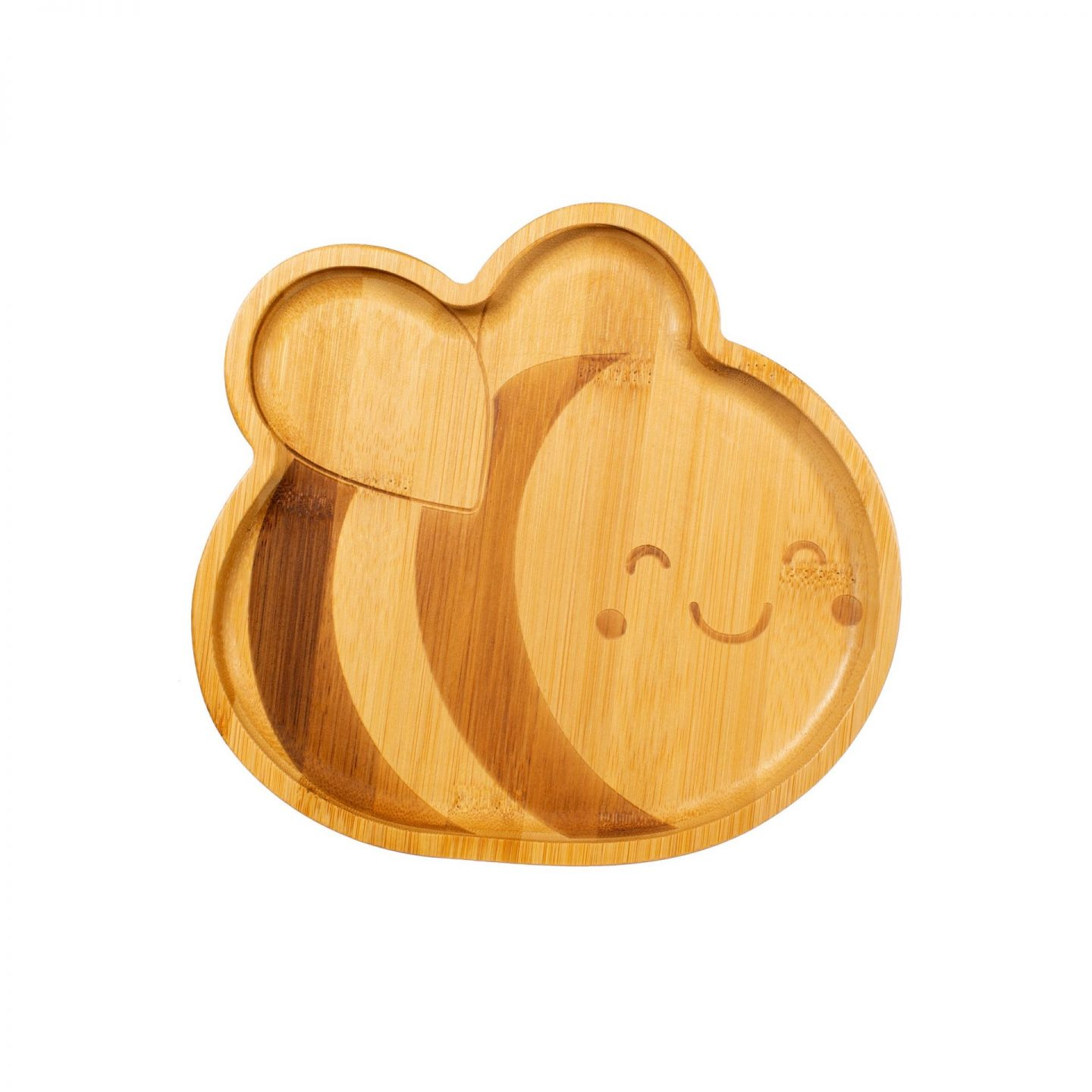 Bee Happy Bamboo Bee Plate for Kids